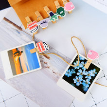 10 pcs/pack Creative Fashionable life Wooden Clip Photo Craft DIY Clips with Hemp Rope  Clothespin Decoration Pegs