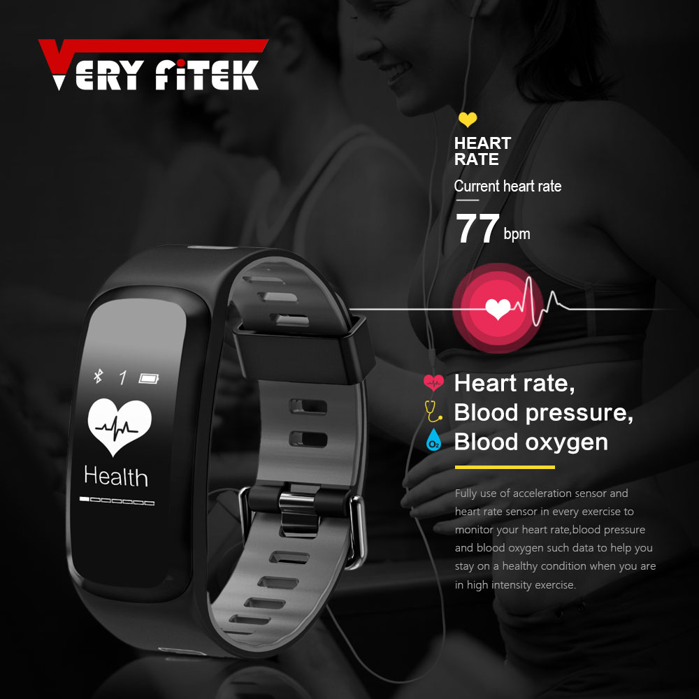все цены на VERYFiTEK V2 Smart Fitness Bracelet IP68 Waterproof Blood Pressure Oxygen Heart Rate Monitor Smartband Wristband For IOS Android