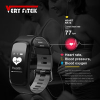VERYFiTEK V2 Smart Fitness Bracelet IP68 Waterproof Blood Pressure Oxygen Heart Rate Monitor Smartband Wristband For IOS Android