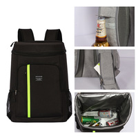 Ice bag beer ice pack double shoulder picnic bag waterproof lunch bag large capacity thermal insulation bag water proof