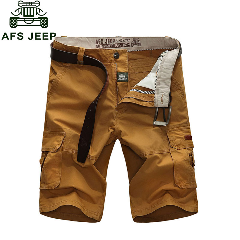 2016 Combat Cargo Shorts Fashion Beach Military Army Casual Plus Size 30~44 4 Colors Brand-Clothing CLOTHES Solid Color Cotton