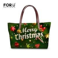 FORUDESIGNS Big Capacity Handbags for Women Merry Christmas Ladies Messenger Bags Brand Designer Female Top-handle Bag Festival