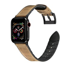 For Apple Series 4 Double Tour Watchbands Genuine Leather Strap Wrist Watch Band For Apple Watch 1 2 3 4 herm Bracelet 40mm 44mm