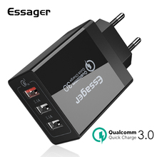 Essager 30W USB Charger Quick Charge 3.0 Fast Mobile Phone Charger For iPhone Samsung Xiaomi Nexus Tablet 3 Port Desktop Charger