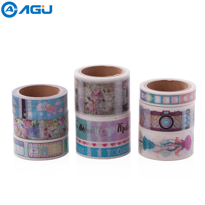 AAGU 1PC Different Size  Washi Tape Cute For Choosing Cloud Stamp Maskig Tape Adhesive Office Stationery Adhesive Tape For DIY