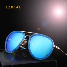 EZREAL Summer Fashion Round Sunglasses Women Eyewear Brand Designer glasses color Points polarized Sun Glasses Shades With Box