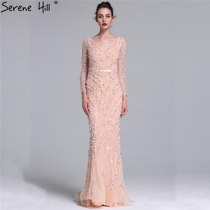 Lujo Dubai robe de Soiree vestidos de noche 2018 de manga larga ...