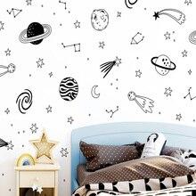 Creative Universe Star Wall Sticker Self Adhesive Vinyl Waterproof Art Decal For Kids Room Living Home Decor