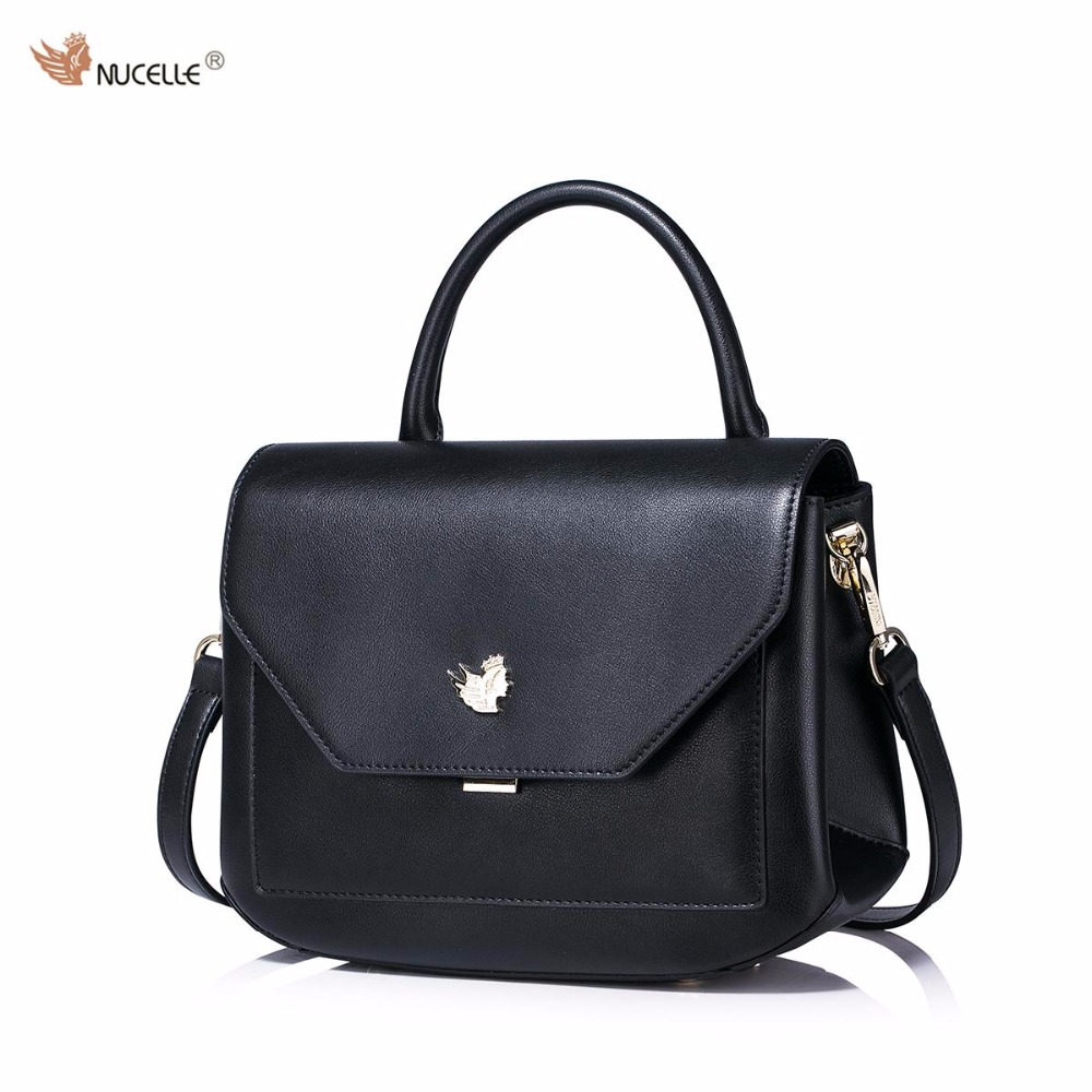 New NUCELLE Brand Arc Angle Design Fashion Casual Cow Leather  Women Lady Handbag Shoulder Cross Body Bags