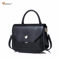 New NUCELLE Brand Arc Angle Design Fashion Casual Cow Leather Women Lady Handbag Shoulder Cross Body