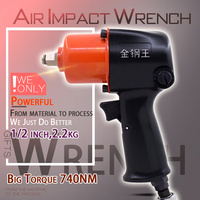 Wilin Pneumatic Tools Industrial 1/2 Inch Mini Composite Air Impact Wrench 740NM Big Torque