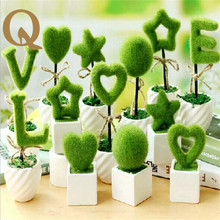 Valentine's Day 2017 Mini love artificial simulation of potted plant decoration festival supplies Valentine romantic surprise