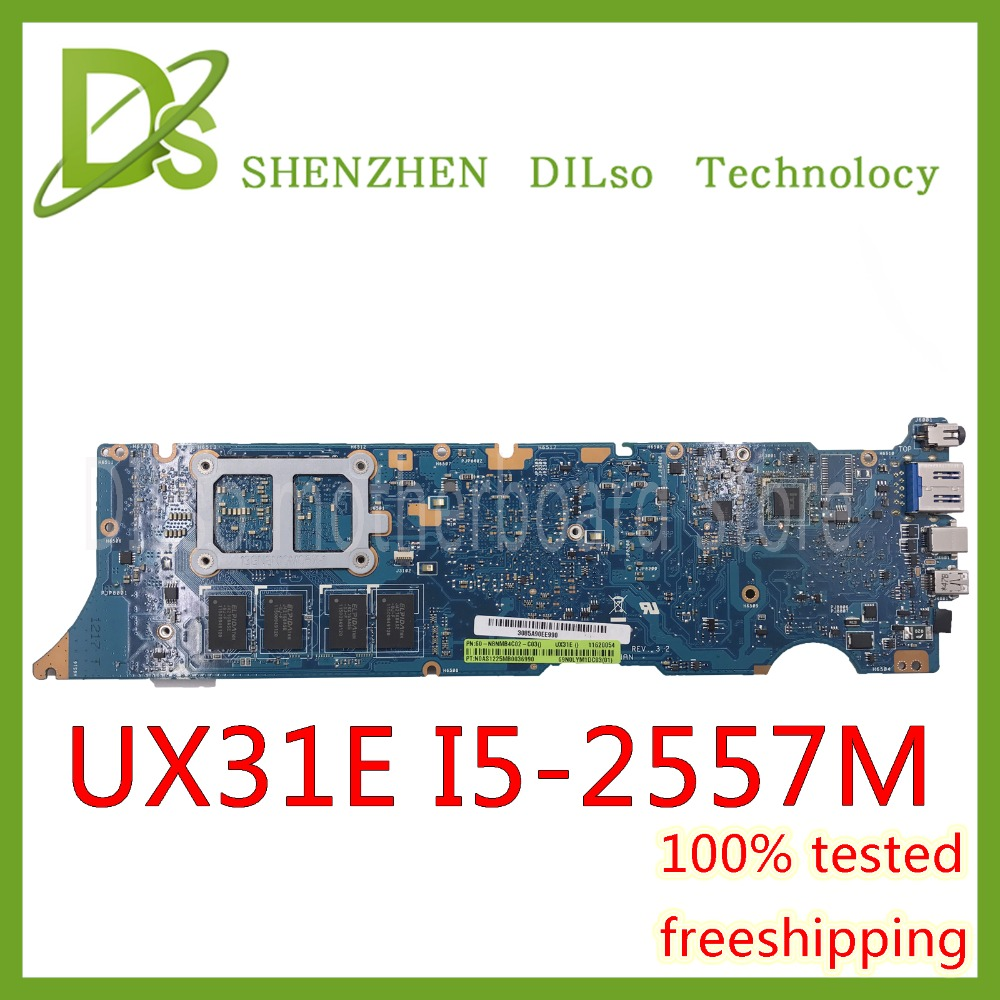 For ASUS UX31E motherboard ux31e mainboard Laptop motherboard Integrated i5 cpu Test work 100% laptop motherboard for asusx450md x450m x452m x450mj with n2940 cpu motherboard mainboard rev2 0 100