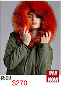 Factory wholesale price Women's Vintage Retro Fur Hooded Military Parka Jacket Coat with pink lined and collar fur mr 16
