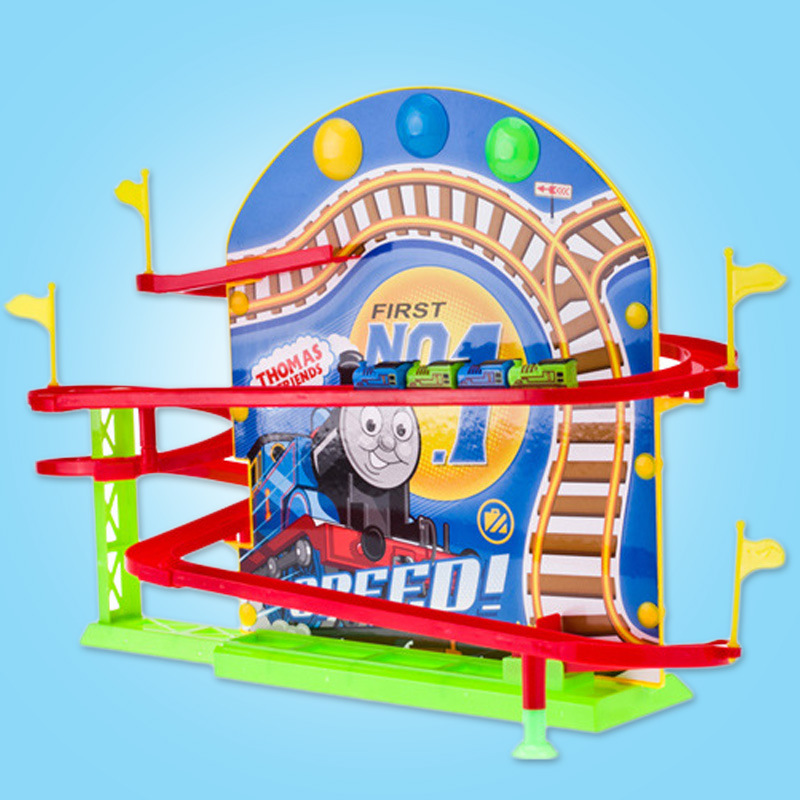 Thomas And Friends Boys Toy Super Racing Magnetics On The Wall Thomas Electric Train Tracks Children's Rail Car Toys Gift