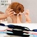 Мода волшебные инструменты пена губка быстрые грязный пончик булочка прическа девушки женщины луки группа аксессуары шелковый повязка на голову