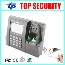 ZK linux system biometric fingerprint time and attendance system with free software and SDK built in MF card reader time clock