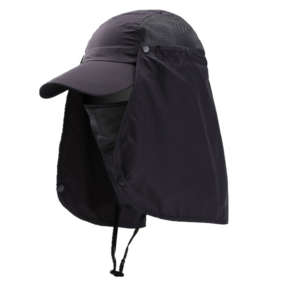 YR.Lover Outdoor UV Sun Protection Wide Brim Fishing Cap Men and Women Face Cov
