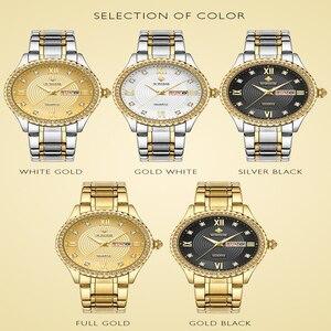 Image 2 - WWOOR שבוע שעון גברים יוקרה יום תאריך Mens שעוני יד עמיד למים גברים נירוסטה שעונים קוורץ ספורט שעון מתנת צמיד