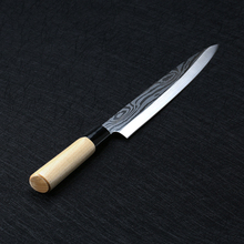 Laser Damascus Chef Knives Japanese Salmon Sushi Stainless Steel Sashimi Kitchen Knife Raw Fish Fillet Layers Cooki