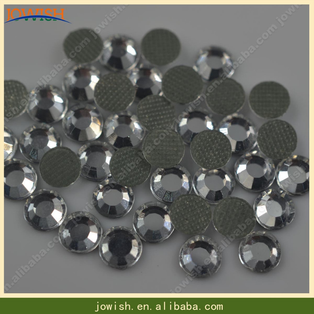 400 or 800 DMC Glass Clear Crystal gems ss10=2.4 mm flatback iron on hotfix bead