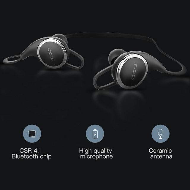 2017 QCY QY8 wireless sports headphones Bluetooth 4.1 in-ear headset gamer sweatproof earphones running noise cancelling earbuds