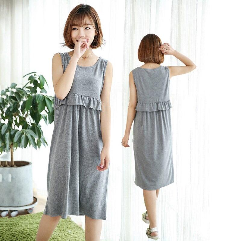 Maternity Pajamas Dresses Nursing Nightgown Sleepwear Nightwear Pregnancy Clothing Breastfeeding Clothes for Pregnant Women недорго, оригинальная цена