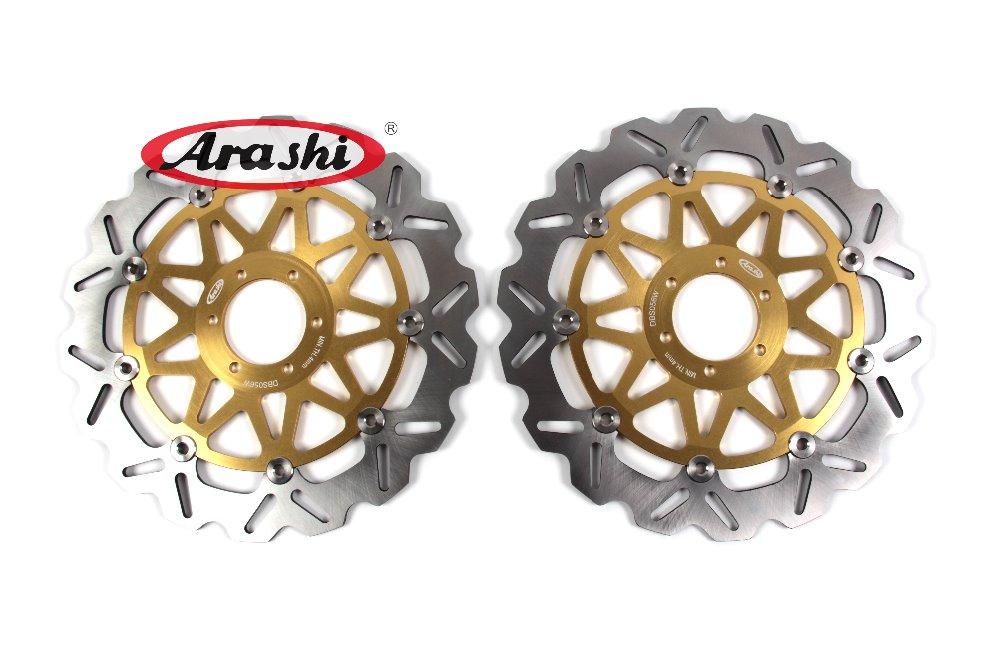 Arashi 1 Pair CNC Front Brake Discs Brake Rotors For YAMAHA FZR GENESIS 1000 1987 1988 1989 Motorcycle Floating Disk motorcycle front and rear brake pads for yamaha fzr 1000 fzr1000 genesis 1987 1989 brake disc pad