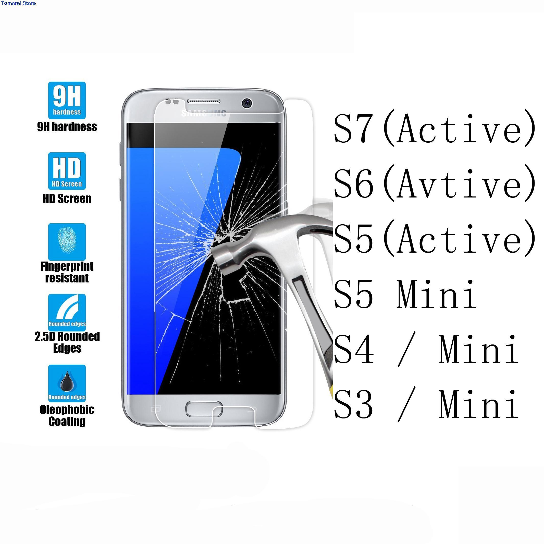 Цена за 50/набор для samsung galaxy s7 s6 s5 s4 s3 активность мини премиум Ультра Тонкий 0.26 мм Закаленное Стекло-Экран Протектор Фильм Не Пузырь