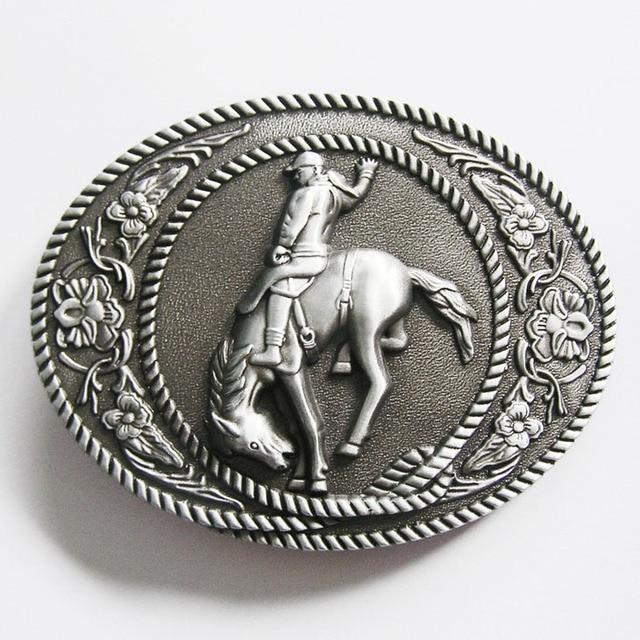 Men Belt Buckle Western Belt Buckle Wholesale Retail Horse Rider Western Belt Buckle Free Shipping