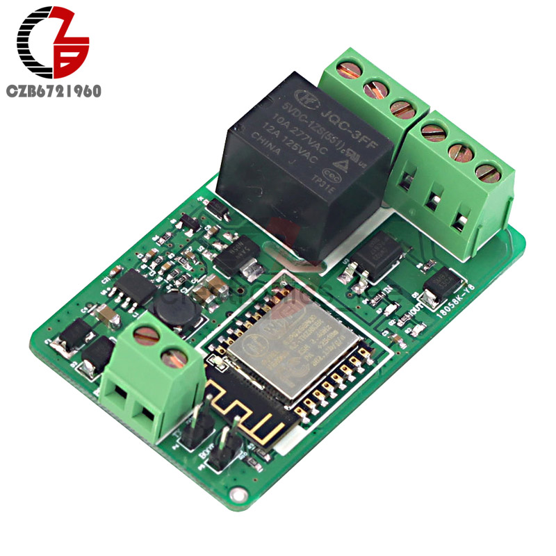 DC 7V-30V 5V / 220V 10A ESP8266 ESP-12F WIFI Network Relay Module 4-layers Board With Overvoltage Automatic Protection doit v3 new nodemcu based on esp 12f esp 12f from esp8266 serial wifi wireless module development board diy rc toy lua rc toy