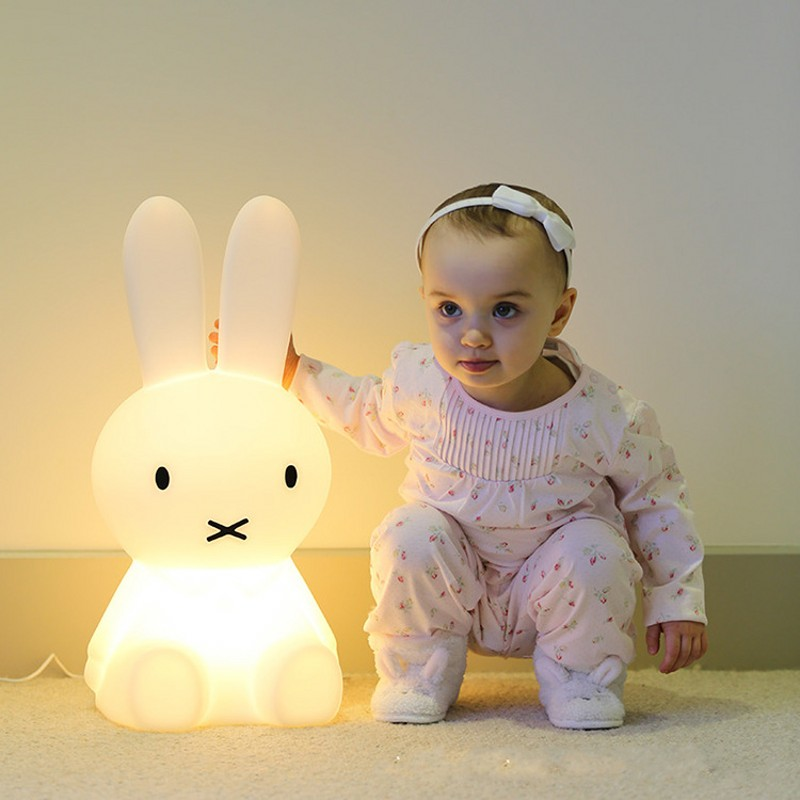 50/80CM Baby Bedroom Table Lamp Animal Cartoon Brown Bear Cute Rabbit Dimmable LED Night Light Children Christmas Birthday Gift beiaidi 50cm cute rabbit led night light cartoon animal bedroom desk table lamp baby kids children sleeping light best christmas