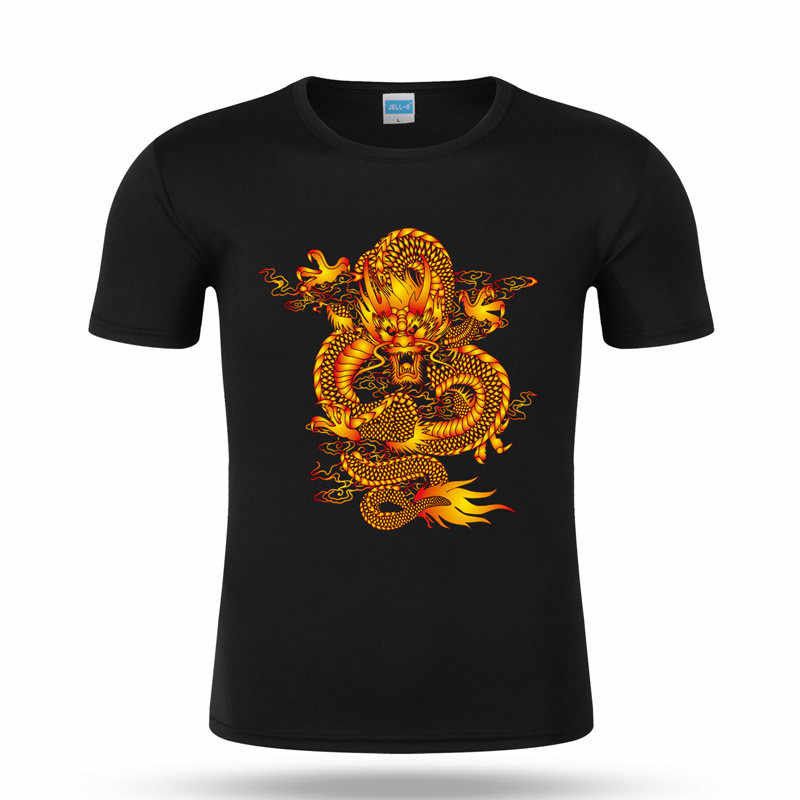 Chinese Dragon Pyrograph Tshirt Heat Transfer Iron-on Patch Animal Applique