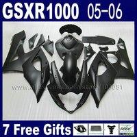 Injection molding fairing kit for K5 2005 2006 gsxr 1000 kits 05 06 all full black suzuki motorcycle fairings