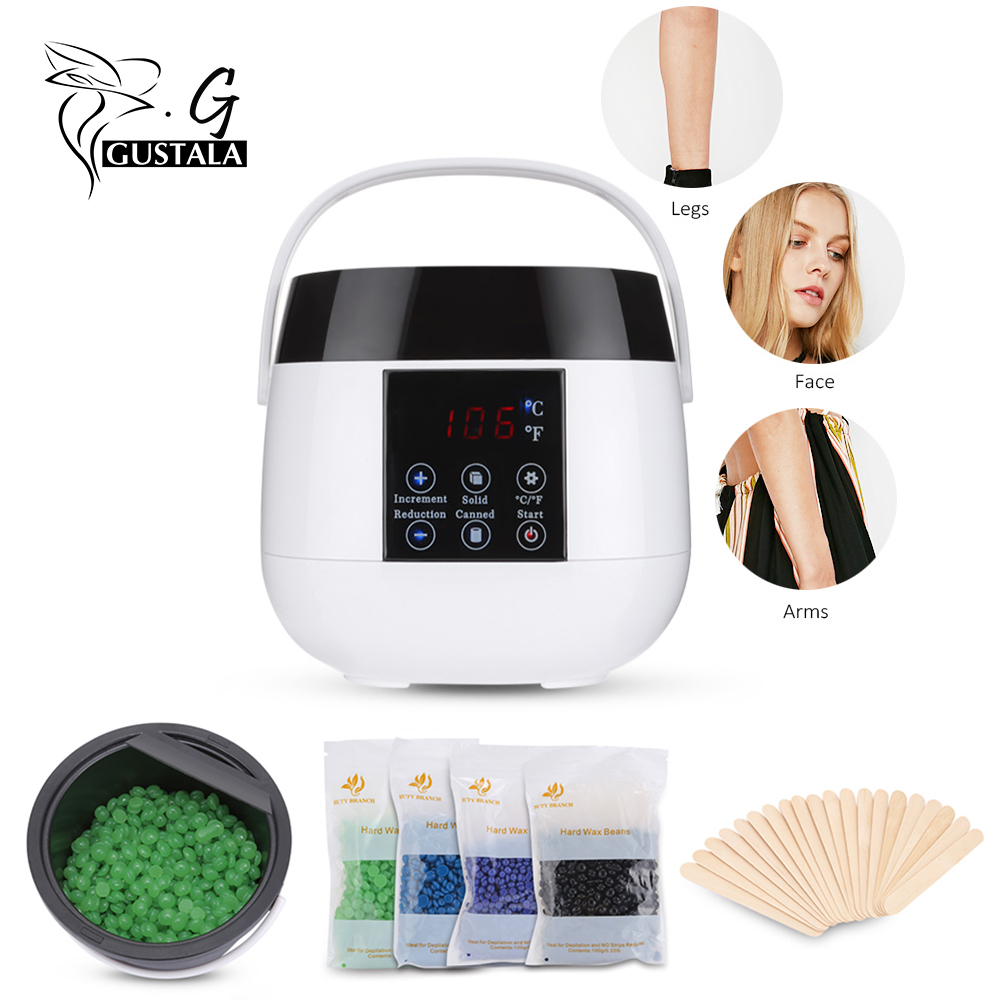 Professional 100-240V Wax Heater Waxing Warmer Bikini Waxing Machine For Hair Removal 4 X Pack Of Wax Beans + 20 Sticks Wax Kit