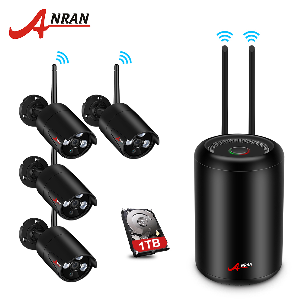 ANRAN Wireless Security Camera System 4CH 960P HD NVR Kit Outdoor CCTV Camera System Waterproof Night Vision Surveillance Kit