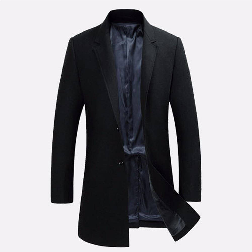 5e0f3e78667eb Chaud gris Hommes Longue De Unique Poitrine Noir Sur rouge Mesure  Survêtement D'hiver Vestes Plus ...