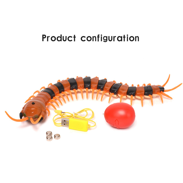 US $1 51 40% OFF|Hoomall Funny Cats Dogs Toys Creepy Crawly Remote Control  Centipede / Giant RC Scolopendra Novelty Toy Gift Pet Accessories-in Cat