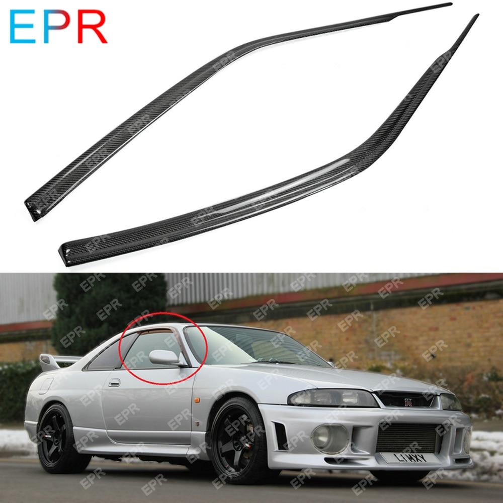 For Nissan Skyline R34 GTT GTR Carbon Fiber Wind Deflector Accessories Trim