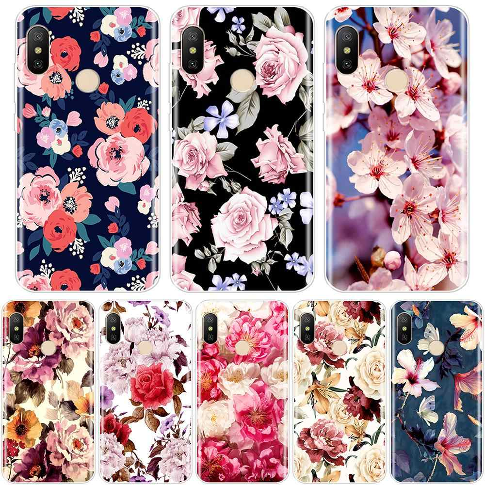 Cute Flowers Back Cover For redmi S2 6A 5 Plus 4A  Xiaomi Pocophone F1 redmi Note 4 4X 5 5A 6 Pro Prime Silicone Case Back Cover