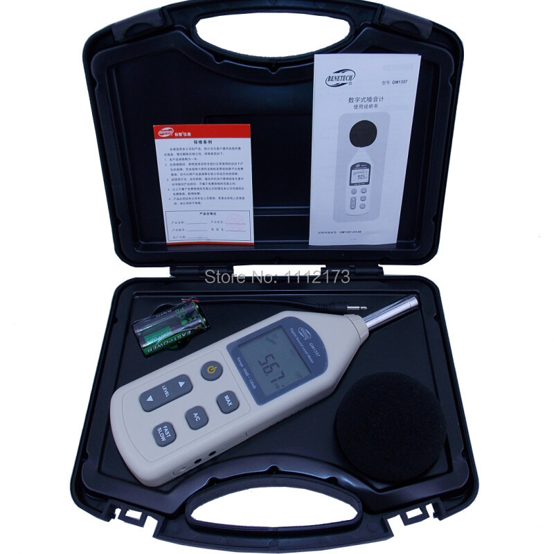 ФОТО Retail package GM1357 30-130dB Digital Sound Noise Level Meter LCD A/C FAST/SLOW dB screen