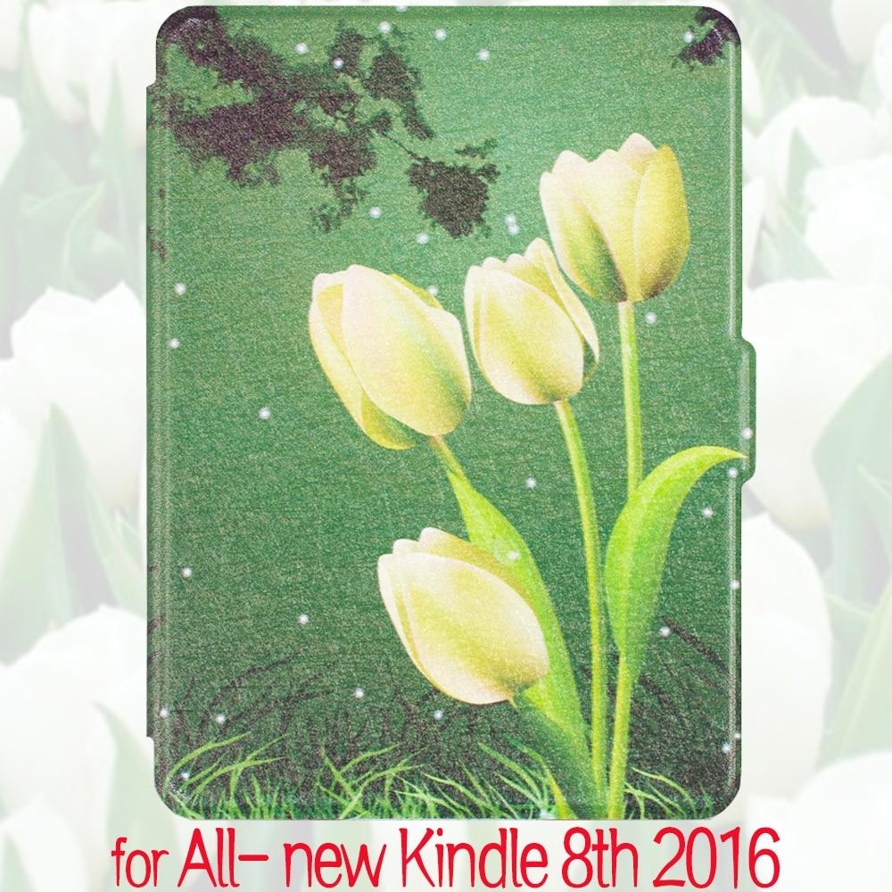 """Folio pu premium leather smart cover per amazon all-new kindle e-reader 6 """"Display 2016 Rilascio 8a Generazione (sveglia/Sonno)"""