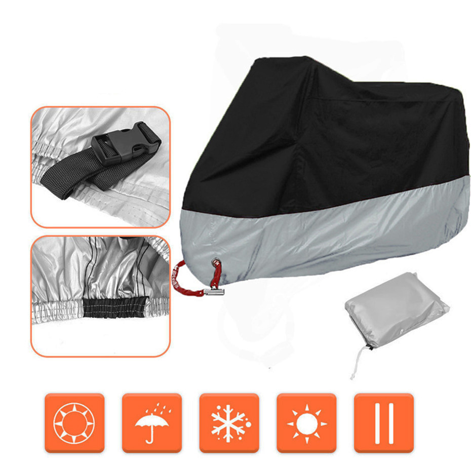 VORCOOL Motorcycle Cover Waterproof Rain Covers Outdoor Indoor Moto Scooter Protection Dustproof Case For Motorcycle Cover (7)