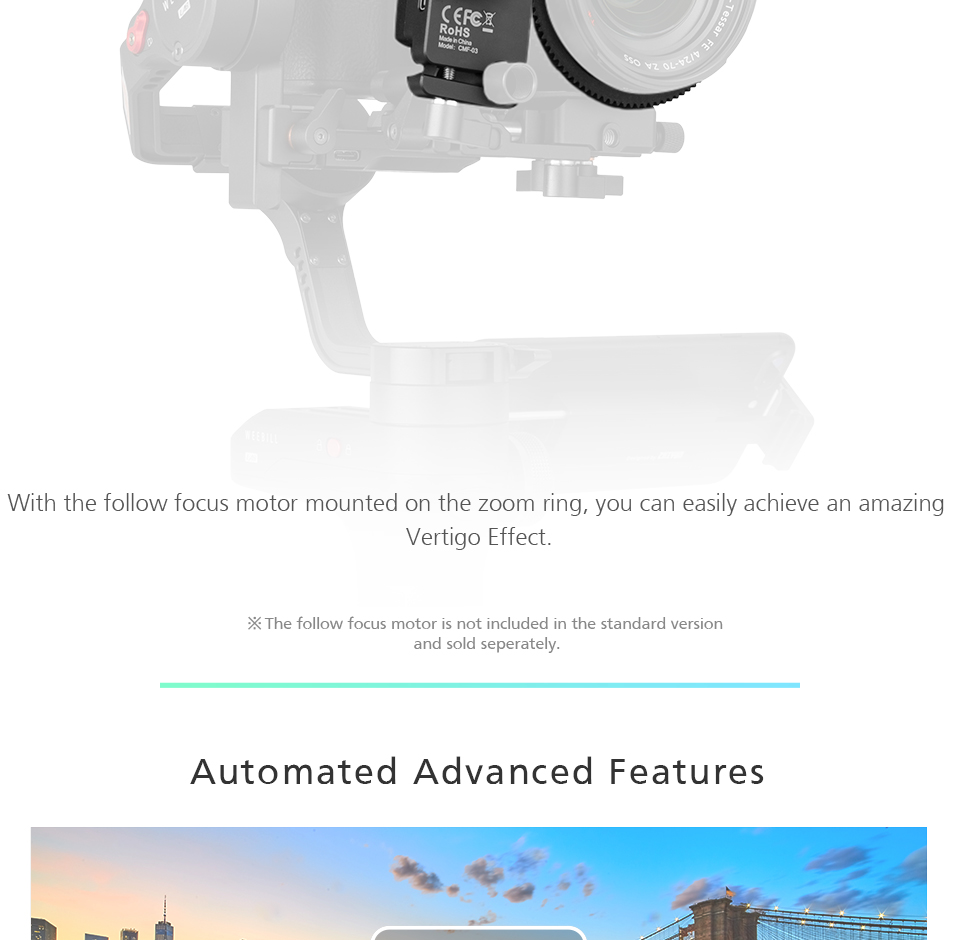 Zhiyun WEEBILL LAB 3-Axis OLED Display Stabilizer For Sony Panasonic GH5s Mirrorless Camera Handheld Gimbal With Focus Control 11