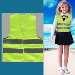 Image 3 - High Visibility Pupil Child Student Kids Reflective Traffic Vest Scooter Cycling Safety Vest Jacket Children Road Reflect Vests