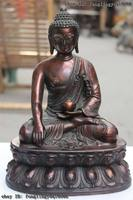 11 китайский бронзовый медный удерживайте чашу Amitabha Tathagata статуя Будды Шакьямуни