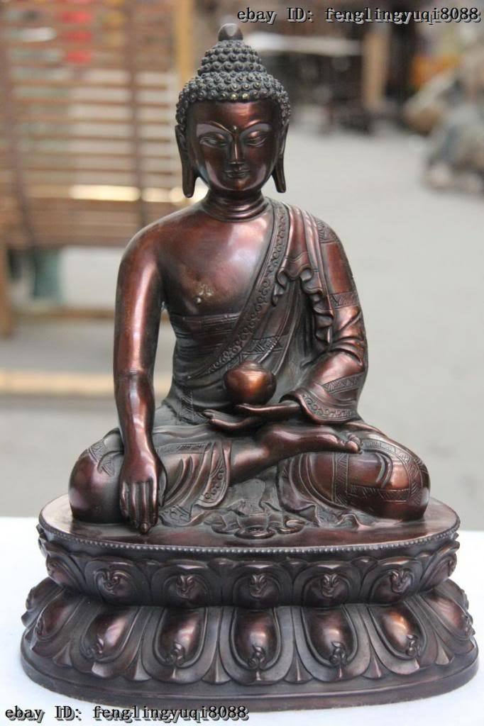 11 Chinese Bronze Copper hold bowl Amitabha Tathagata Sakyamuni Buddha Statue11 Chinese Bronze Copper hold bowl Amitabha Tathagata Sakyamuni Buddha Statue