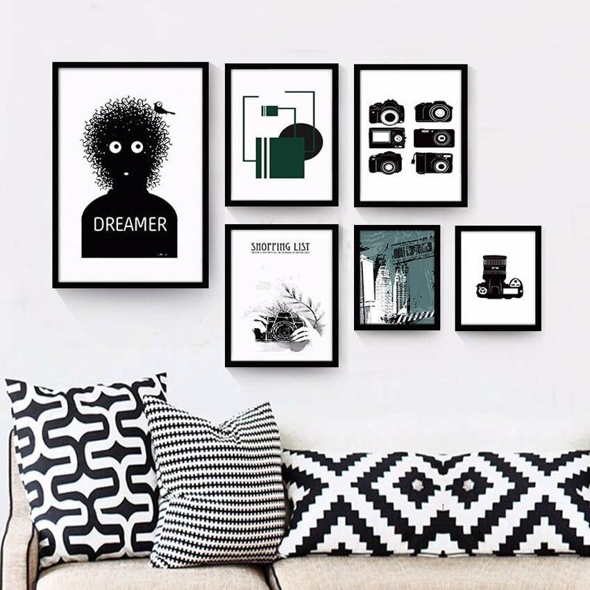 100% QualitäT Moderne Retro Kamera Leinwand Malerei Poster Drucke Wand Hängen Bild Home Studie Dekorative Malerei Kunst Wohnzimmer Unframed