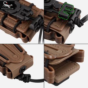 Image 3 - IDOGEAR US army Magazine Pouches Military Fastmag Belt Clip plastic molle pouch bag 9mm softshell G code Pistol Mag Carrier tall
