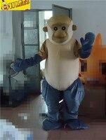 Ohlees החדש מותאם אישית מהיר קוף cartton תלבושות קמע גודל מבוגרים תלבושות
